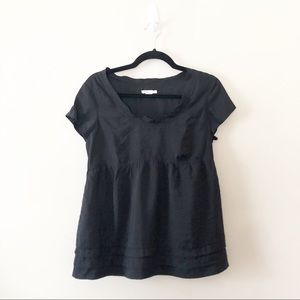 Vince Silky Black Top Blouse